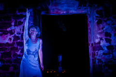 Performance in the ruin Royalty Free Stock Photography