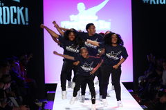 Performance  on the runway during Rookie USA Presents Kids Rock! Fall 2016 Stock Photo