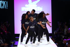 Performance on the runway during Rookie USA Presents Kids Rock! Fall 2016 Royalty Free Stock Photo