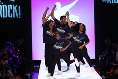 Performance on the runway during Rookie USA Presents Kids Rock! Fall 2016 Stock Photos