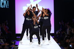 Performance  on the runway during Rookie USA Presents Kids Rock! Fall 2016 Stock Images