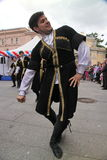 The performance of soloists-dancers of the ensemble Imamat (solar Dagestan) with traditional dances of the North Caucasus. Royalty Free Stock Image