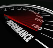Performance Speedometer Job Task Achieved Accomplished Royalty Free Stock Photos