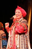 The performance on the stage of the national folk singer of russian songs nadezhda babkina and theatre russian song Royalty Free Stock Images