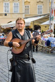 Performance of street musicians Stock Images