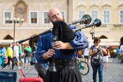 Performance of street musicians Stock Photos