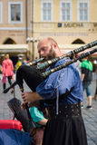 Performance of street musicians Stock Photography