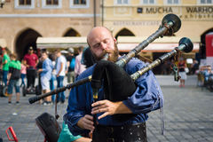 Performance of street musicians Royalty Free Stock Photography