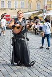 Performance of street musicians Stock Photo
