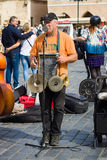 Performance of street musicians Royalty Free Stock Photo