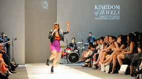 Performance during Swarovski runway show at Audi Fashion Festival 2012 Royalty Free Stock Photos