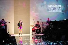 Performance during Swarovski runway show at Audi Fashion Festival 2012 Royalty Free Stock Image