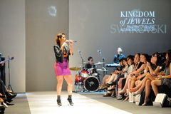 Performance during Swarovski runway show at Audi Fashion Festival 2012 Stock Image