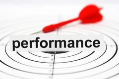 Performance target Royalty Free Stock Image