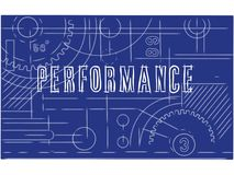 Performance technical poster Stock Image