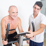 Performance test in the gym Stock Photography