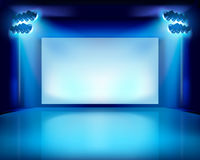 Performance in the theater. Vector illustration. Royalty Free Stock Images
