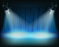 Performance in theatrical stage. Vector illustration. Stock Image