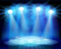 The performance on theatrical stage. Vector illustration. Stock Images