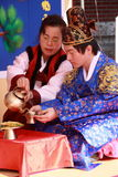 A performance of the Traditional Korean Wedding Royalty Free Stock Photos