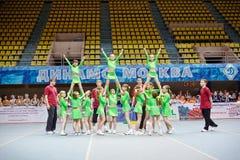 Performance of unidentified children cheerleaders team Stock Photography