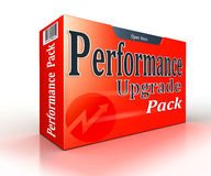 Performance upgrade concept red pack Stock Photography