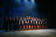 The performance of the vocal chorus at the Palace of culture. Stock Photography