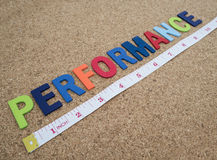 Performance word 5 Stock Photos