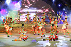 The performance in xijiang miao village,guizhou,china Stock Photos