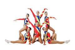 Performance by the young athlete aerobics Royalty Free Stock Images