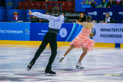 Performance of young athletes in short program Royalty Free Stock Photography