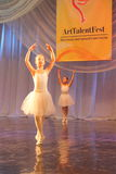 Performance of a young ballerina Stock Image