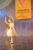 Performance of a young ballerina Stock Photography