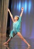 Performance of a young ballerina Royalty Free Stock Photos