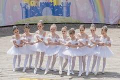 Performance the young ballerinas School-Studio Alla Dukhova Stock Photos