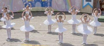 Performance the young ballerinas School-Studio Alla Dukhova Stock Photo