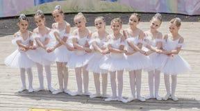 Performance the young ballerinas School-Studio Alla Dukhova Stock Photography