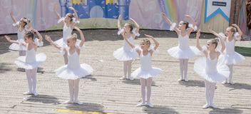 Performance the young ballerinas School-Studio Alla Dukhova Royalty Free Stock Photography