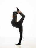 Performance. Young beautiful caucasian dancer posing on white background. studio shot Royalty Free Stock Photos