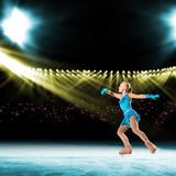 Performance of young skaters, ice show Royalty Free Stock Image