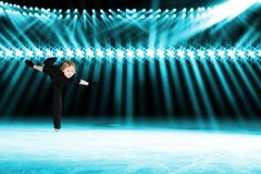 Performance of young skaters, ice show Royalty Free Stock Photo