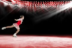 Performance of young skaters, ice show Stock Image