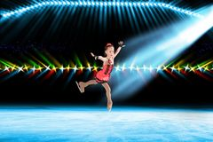Performance of young skaters, ice show Royalty Free Stock Photos