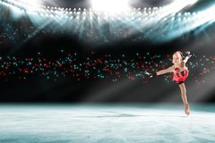 Performance of young skaters, ice show Stock Photography
