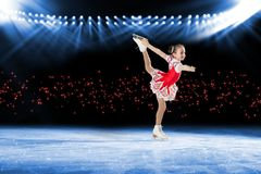 Performance of young skaters, ice show Royalty Free Stock Images