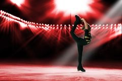 Performance of young skaters, ice show Stock Photos