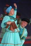 Performancekünstler, Soldatsolisten und Tänzer des Liedes und Tanzensemble der Hauptsitze des Nordwestwehrbereichs Lizenzfreie Stockbilder