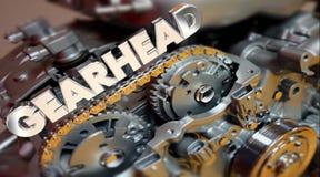 Performances d'adaptateur de fan de technologie de moteur de Gearhead Word illustration de vecteur