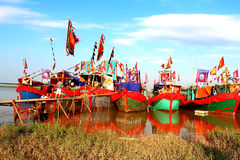 Performed traditional boat on Royalty Free Stock Images