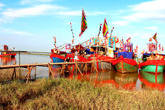 Performed traditional boat on Stock Photo